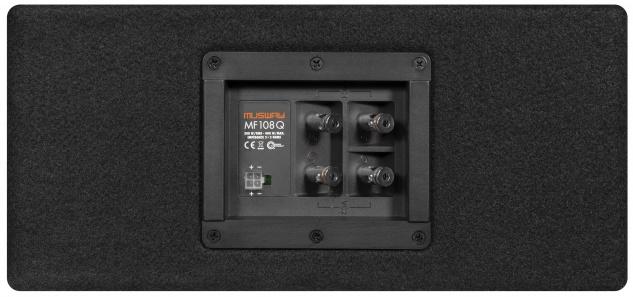 MUSWAY Single Bassreflex-Gehäusesub MF-108Q Subwoofer Bassbox 400W - Vorschau 2