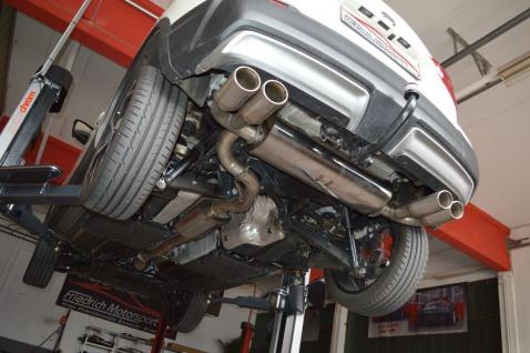 Friedrich Motorsport 70mm Duplex Auspuff Sportauspuff Anlage Nissan Qashqai J11
