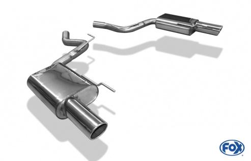 Fox Auspuff Sportauspuff Duplex Sportendschalldämpfer Ford Mustang Coupe &Cabrio