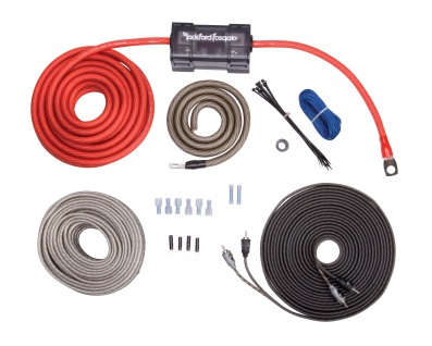 ROCKFORD FOSGATE KABELKIT 4 AWG RFK4X Installation Kabel Set Dual Verstärker