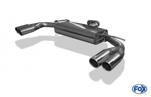 Fox Auspuff Sportauspuff Duplex Sportendschalldämpfer VW Beetle 16 2, 0l