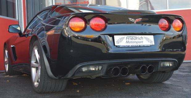 Friedrich Motorsport 70mm Duplex-Auspuff Sportauspuff Anlage Chevrolet Corvette C6