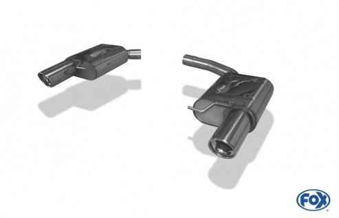 Fox Duplex Auspuff Sportauspuff Endschalldämpfer Audi A4/A5 B8 A4/ A8 quattro B8