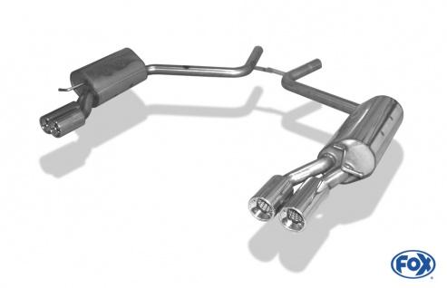 Fox Duplex Auspuff Sportauspuff Endschalldämpfer Mercedes CLS Typ C219 3, 5l