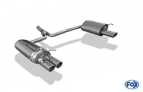 Fox Duplex Auspuff Sportauspuff Endschalldämpfer Mercedes C-Klasse C180 C200