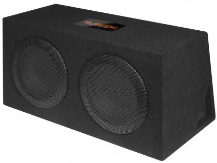 MUSWAY Dual Bassreflex-Gehäusesub MR-206Q Subwoofer Bassbox 600W