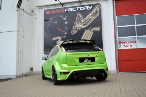 Streetbeast Sportauspuff 76mm Duplex-Anlage Klappensteuerung Ford Focus 2 RS