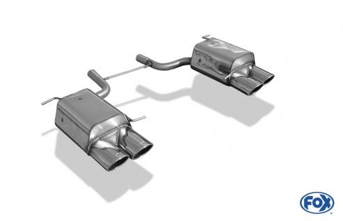 Fox Duplex Auspuff Sportauspuff Endschalldämpfer Mercedes SLK - R172 1, 8l 3, 5l