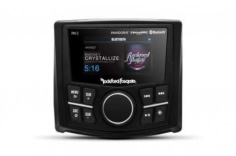 ROCKFORD FOSGATE Marine Source Unit PMX-3 Headunit Receiver Bluetooth USB