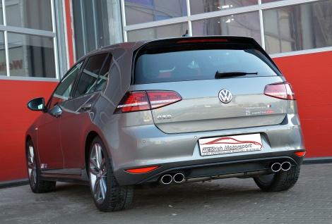 Friedrich Motorsport 76mm Sportauspuff Anlage VW Golf 7 Front GTD 2.0l TDI 135kW