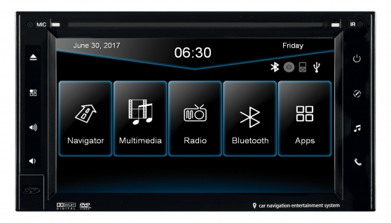 ESX Navigation 2 DIN VN630W PKW Europa Bluetooth SD AUX TMC DVD Android iPhone