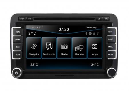 ESX Naviceiver VN720-VO-P6C-BLACK hochglanz VW Polo V 6C ab 04/2014 Navi