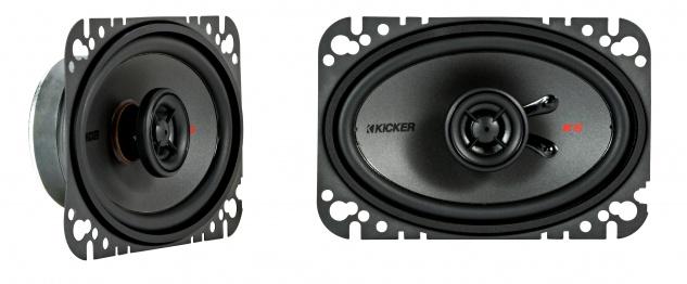 "KICKER 4x6"" Coax-LS KSC46 2-Wege Koax Lautsprecher Boxen Auto KFZ PKW Paar"