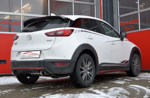 Friedrich Motorsport Gruppe A Sportauspuff Anlage Mazda CX-3 Allrad 2.0 SKYACTIV