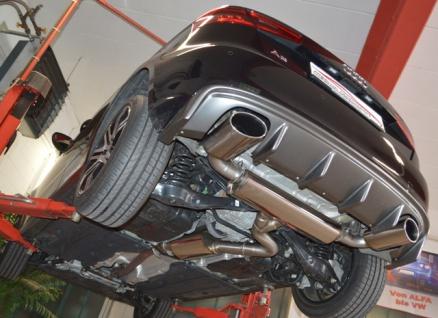 Friedrich Motorsport 76mm Duplex Auspuff Sportauspuff Anlage Audi A3 8V 3-Türer