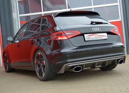 Friedrich Motorsport Duplex Auspuff Sportauspuff Audi A3 8V Sportback Front 1.2l