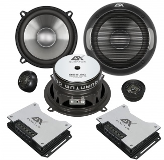 ESX QUANTUM 2-Wege System QE-5.2C Lautsprecher Set Auto Boxen Paarpreis