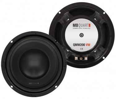 MB Quart QMW200VW 20cm Tieftöner Set Autospezifisch VW Golf 4 100 WRMS Bass