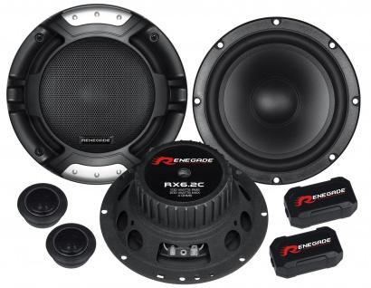 RENEGADE 2-Wege Kompo 16, 5cm RX-6.2C Autolautsprecher Lautsprecher Auto Boxen