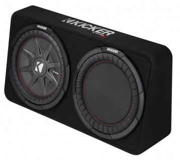KICKER Subbox TCompRT124 30cm Auto Car PKW Hifi Subwoofer Bassbox 1200 Watt MAX