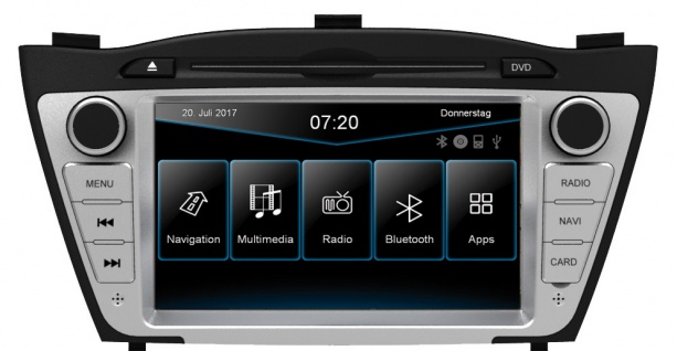 ESX Naviceiver VN720-HY-iX35 Hyundai ix35 09-2015 DVD Bluetooth Navi Multimedia