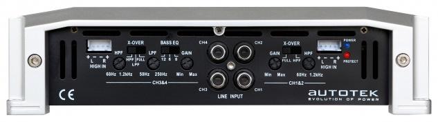 AUTOTEK 4-Kanal Verstärker Endstufe 4-KANAL AMP TA4150