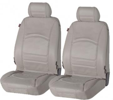 Sitzbezug Sitzbezüge Schonbezug Ledersitzbezug aus echtem Leder grau