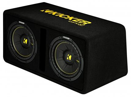 KICKER Dual-Bassreflexbox DCompC102 Dual doppel Subwoofer 2x25 cm 1.200 Watt MAX