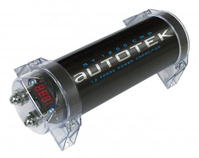 AUTOTEK Pufferelko 1.2 Farad AT1200 mit roter Digitalanzeige