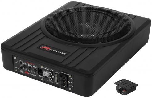 RENEGADE Aktiv-Box Aktiv Untersitz Subwoofer mit Endstufe Verstärker RS1000A