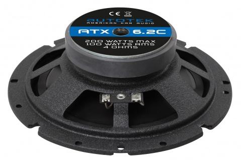AUTOTEK Kompo-System 16, 5cm Lautsprecher 2-Wege Kompo ATX-6.2C 400 Watt max.Paar