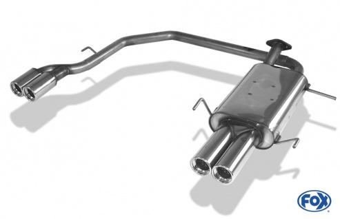 Fox Duplex Auspuff Sportauspuff Endschalldämpfer Nissan Primera P11 Limo 2, 0l