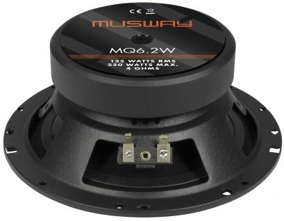 Musway Woofer 16, 5 Cm Mq-6.2w System Auto Car Pkw Hifi Boxen Lautsprecher Paar - Vorschau 4