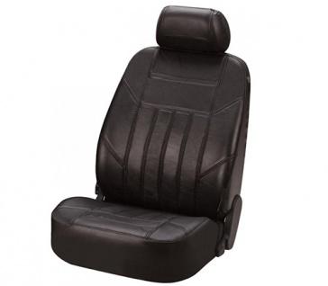 Sitzbezug Sitzbezüge Ledersitzbezug aus echtem Leder schwarz SMART ForFour