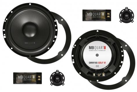 MB QUART Kompo-Kit 16, 5 cm QM-165 GOLF VI 2 Wege System Hifi Lautsprecher Paar
