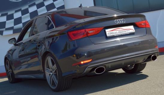 Friedrich Motorsport 76mm Duplex Sportauspuff Endschalldämpfer Audi A3 8V