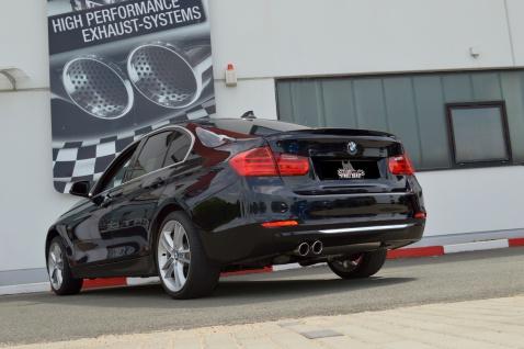 Streetbeast Sportauspuff 76mm mit Soundgenerator BMW 3er F30 F31 Limo Touring