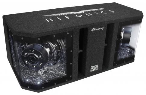 HIFONICS Dual Bass Woofer Bandpass Gehäuse Subwoofer Bassbox 2x25xm MR-10DUAL - Vorschau 1
