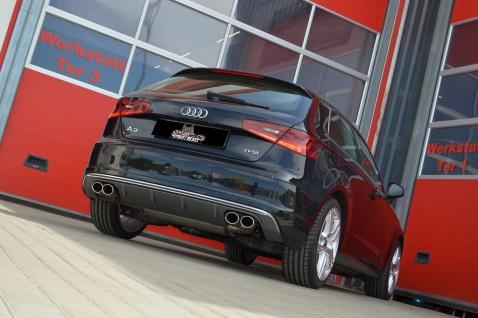 Streetbeast Sportauspuff 76mm Duplex-Anlage mit Soundgenerator Audi A3 8V 3Türer