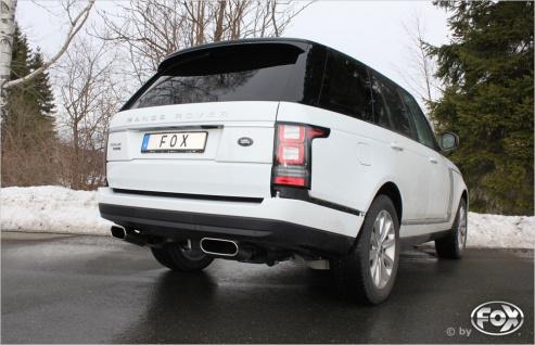 Fox Duplex Auspuff Sportauspuff Endschalldämpfer Land Rover Range Rover IV 3, 0 D