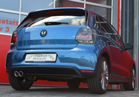 Friedrich Motorsport Gruppe A Auspuff Sportauspuff VW Polo 6R GTI ab Bj. | - Vorschau 2