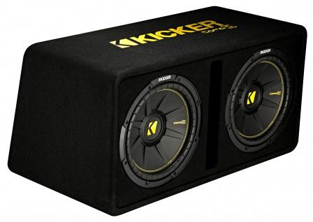 KICKER Dual-Bassreflexbox DCompC122 Dual doppel Subwoofer 2x30 cm 1.200 Watt MAX