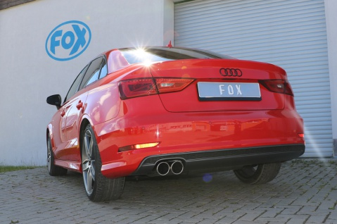 Fox Auspuff Sportauspuff Sportendschalldämpfer Audi A3 8V Limo 1.4l TFSI