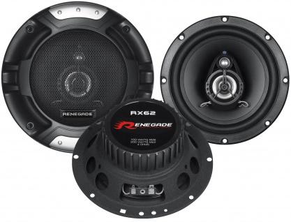 RENEGADE 2-Wege Koax 16, 5cm RX-62 Lautsprecher Auto Boxen Set 200 Watt PKW KFZ