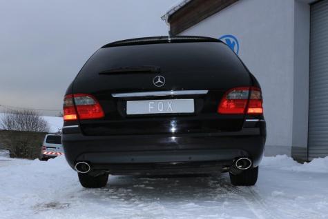 Fox Duplex Auspuff Sportauspuff Komplettanlage Mercedes E-Klasse S211 Kombi - Vorschau 5