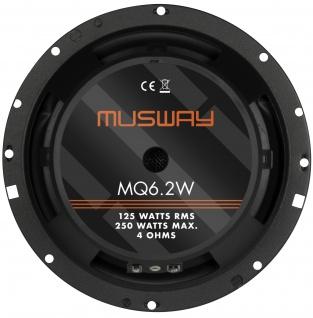 Musway Woofer 16, 5 Cm Mq-6.2w System Auto Car Pkw Hifi Boxen Lautsprecher Paar - Vorschau 2