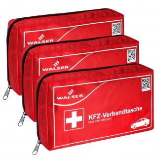 3x Verbandtasche Verbandstasche Erste-Hilfe Verbandskasten PKW DIN13164 ROT