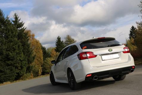 Fox Duplex Auspuff Sportauspuff Endschalldämpfer für Subaru Levorg 1, 6l 125kW