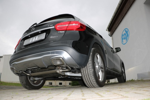 Fox Auspuff Sportauspuff Duplex Sportendschalldämpfer Mercedes GLA X156 4-matic