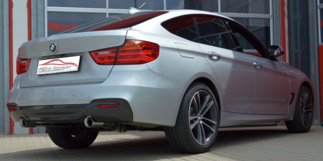 Friedrich Motorsport 76mm Duplex Sportauspuff Endschalldämpfer BMW 3er GT F34